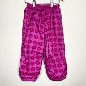 REI Girls Pink Floral Insulated Snow Pants 2T